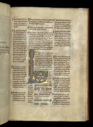 Illuminated Initial, In Glossed Gospels Of Matthew And Mark f.7r